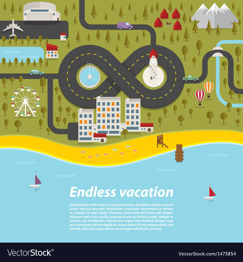 Endless vacation vector | Price: 1 Credit (USD $1)