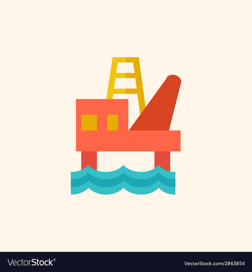 Fossil fuel flat icon vector | Price: 1 Credit (USD $1)