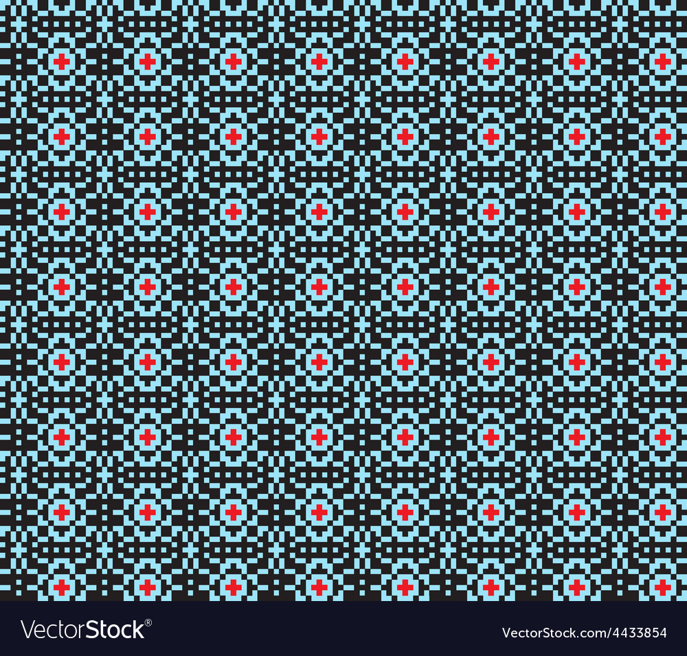 Geometric ethnic ornament seamless pattern vector | Price: 1 Credit (USD $1)