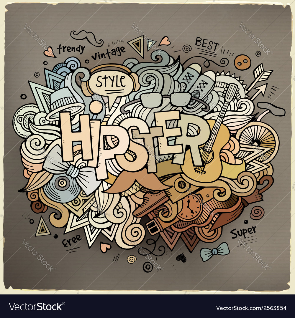 Hipster hand lettering and doodles elements vector | Price: 1 Credit (USD $1)