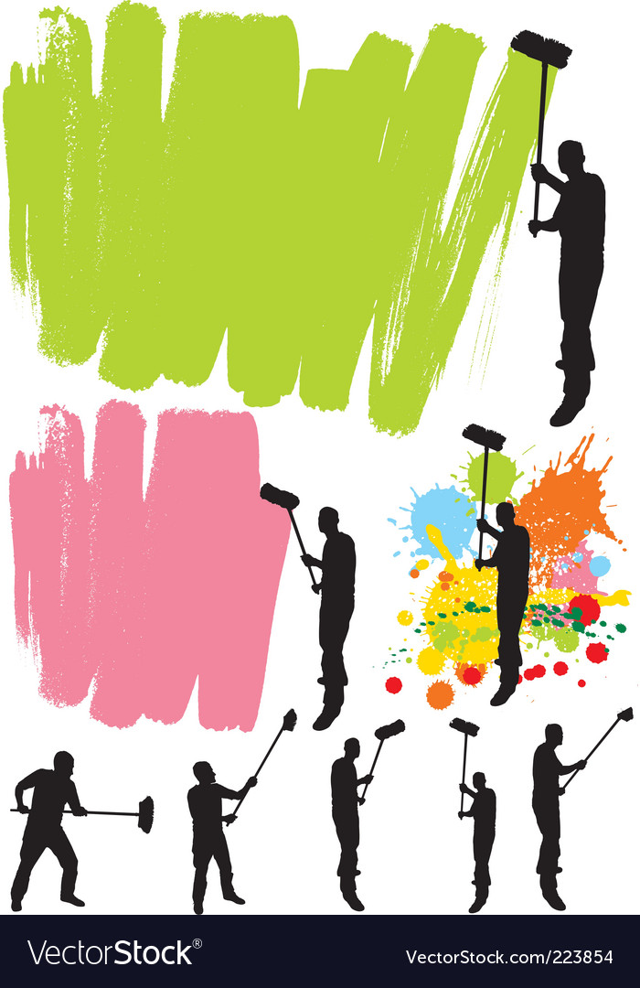 House painter vector | Price: 1 Credit (USD $1)