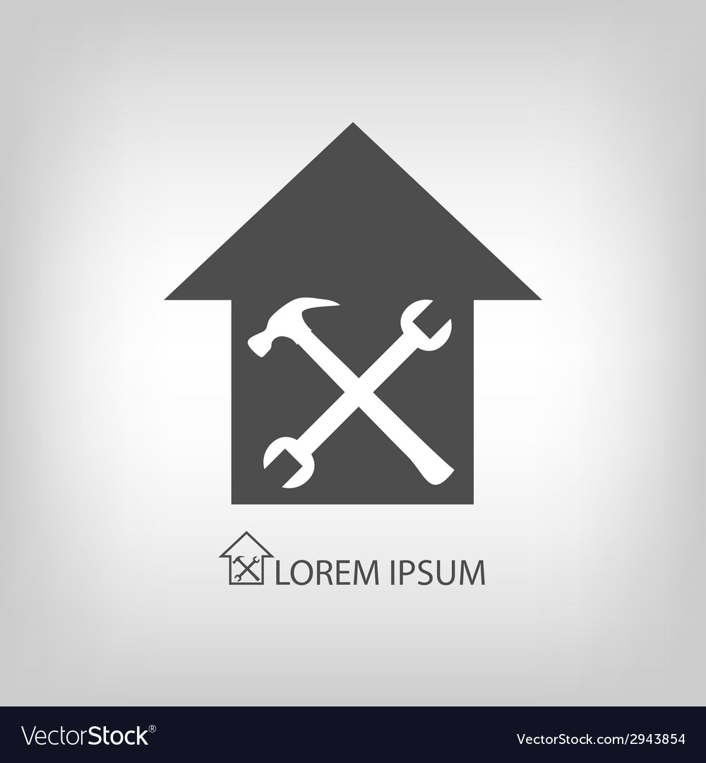 House repair symbol vector | Price: 1 Credit (USD $1)