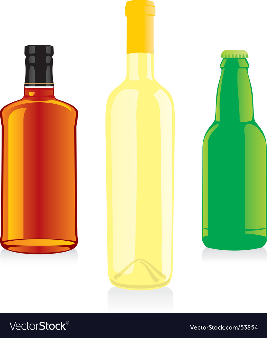 Isolated bottles vector | Price: 1 Credit (USD $1)