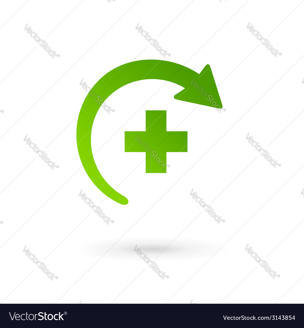 Medical logo icon design template with cross and vector   Price: 1 Credit (USD $1)