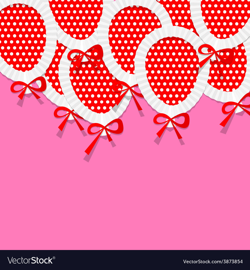 Pink party background for your text with paper vector | Price: 1 Credit (USD $1)