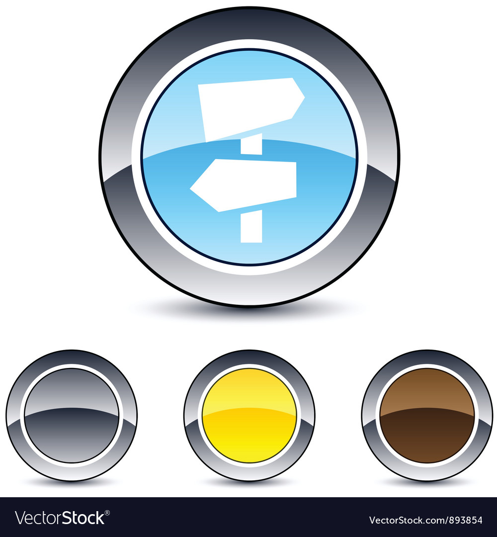 Road arrows round button vector | Price: 1 Credit (USD $1)