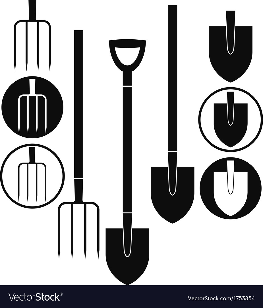Shovel pitchfork vector | Price: 1 Credit (USD $1)