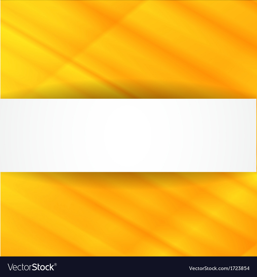 Yellow abstract background with white banner vector | Price: 1 Credit (USD $1)