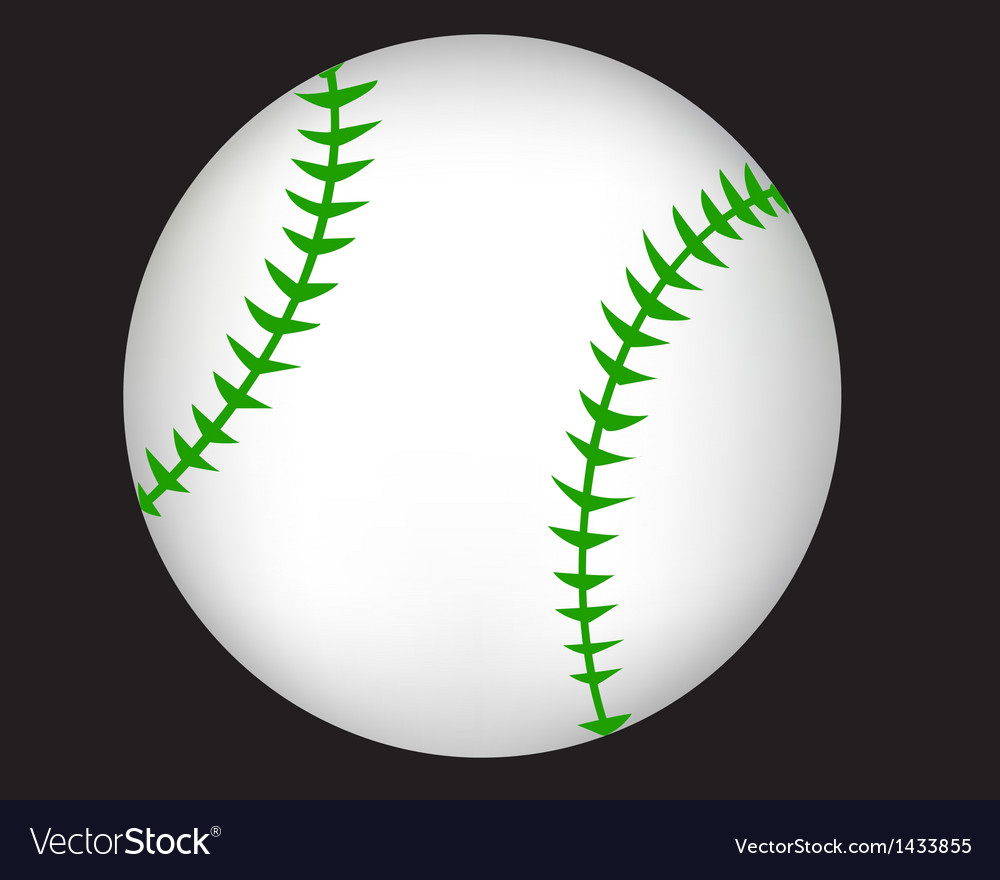 Ball baseball vector | Price: 1 Credit (USD $1)