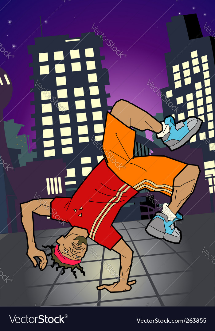Break-dancer illustration vector | Price: 1 Credit (USD $1)
