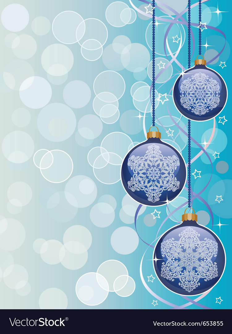 Christmas background with a holiday baubles vector | Price: 1 Credit (USD $1)