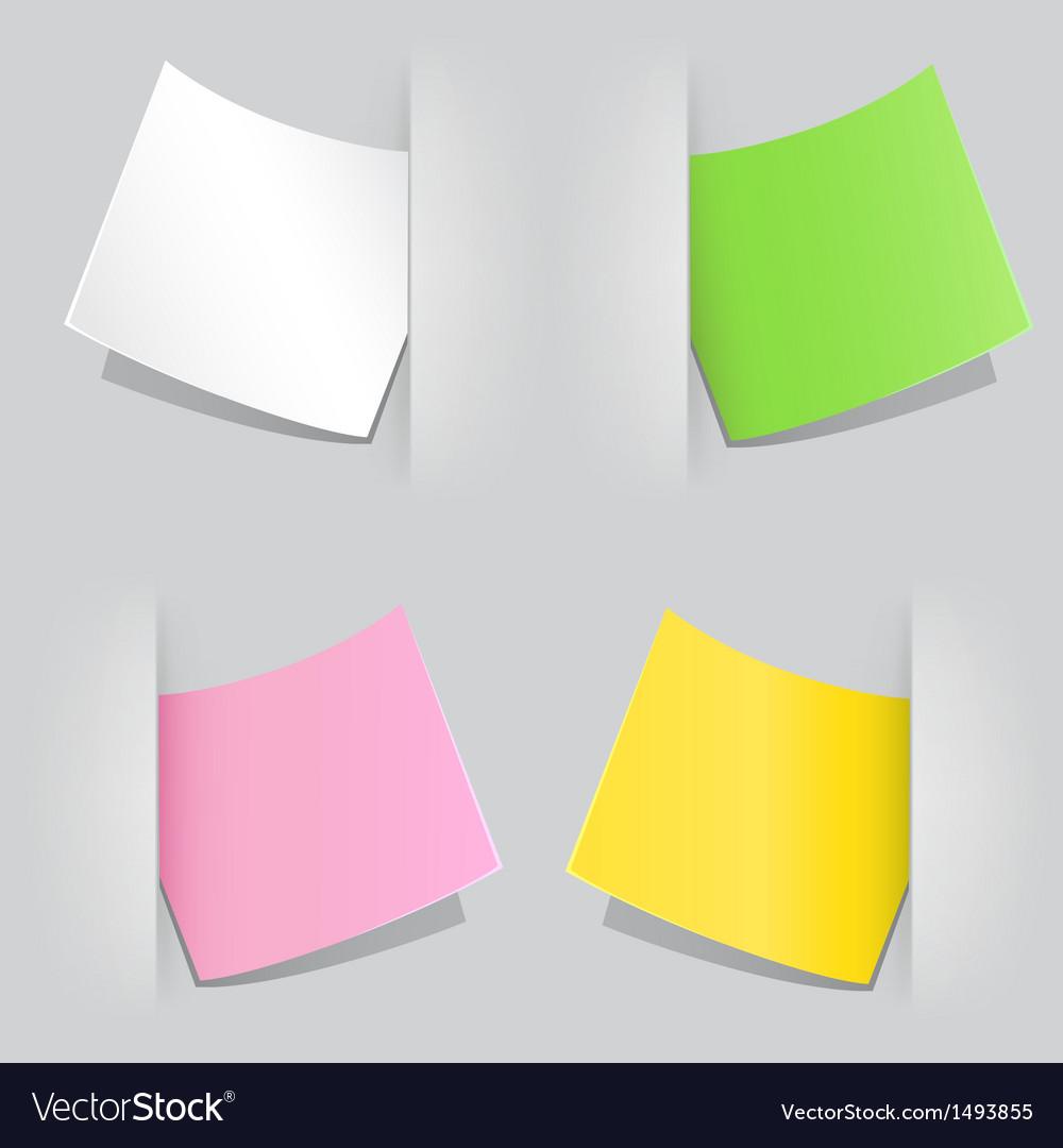 Colored paper vector | Price: 1 Credit (USD $1)