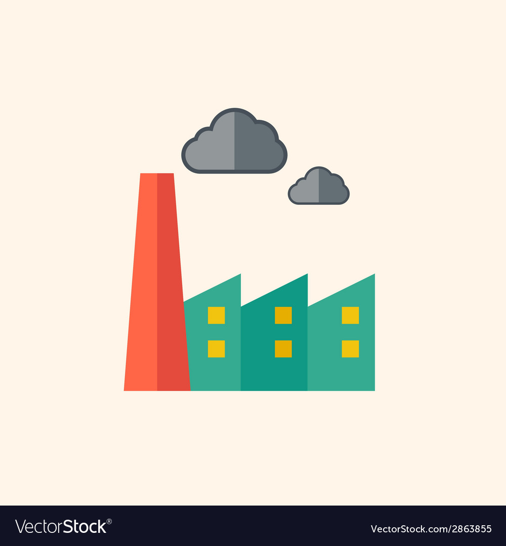 Factory flat icon vector | Price: 1 Credit (USD $1)