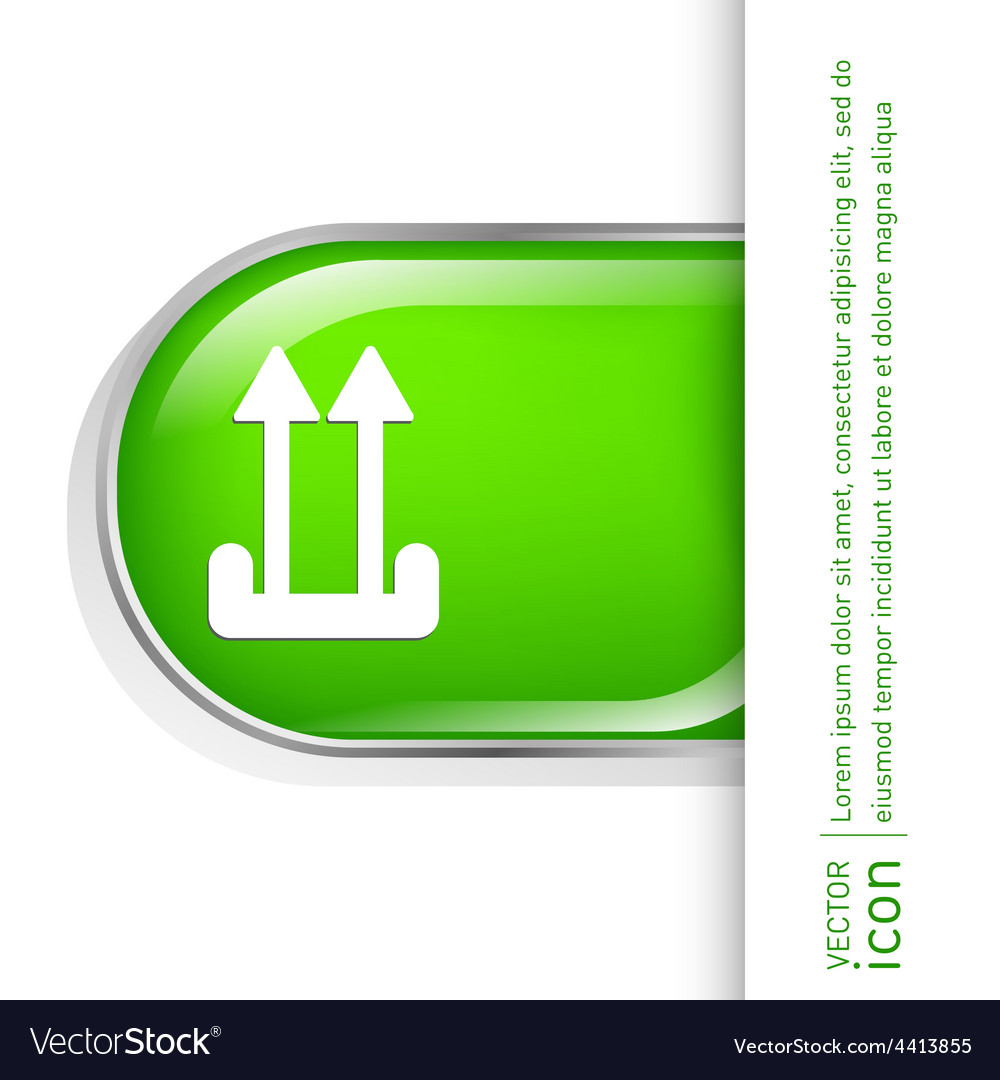 Fragile symbol arrow up logistic icon vector | Price: 1 Credit (USD $1)