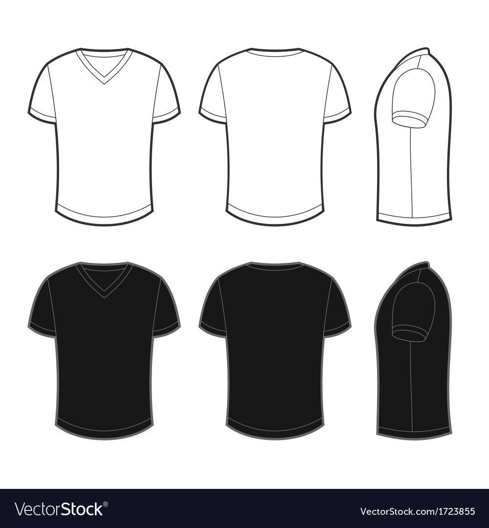 Front back and side views of blank t-shirt vector | Price: 1 Credit (USD $1)