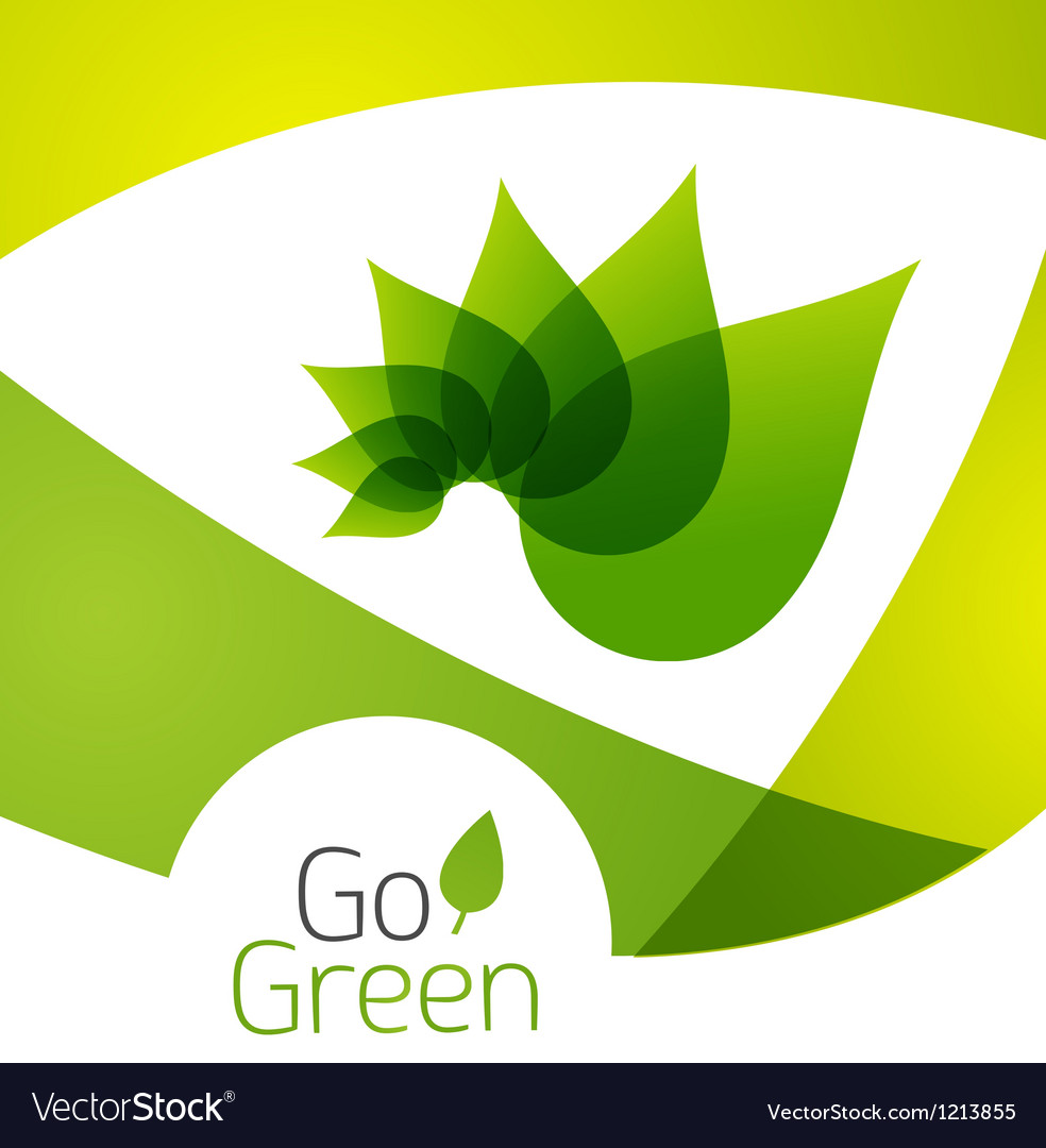 Green leaf icon concept vector | Price: 1 Credit (USD $1)