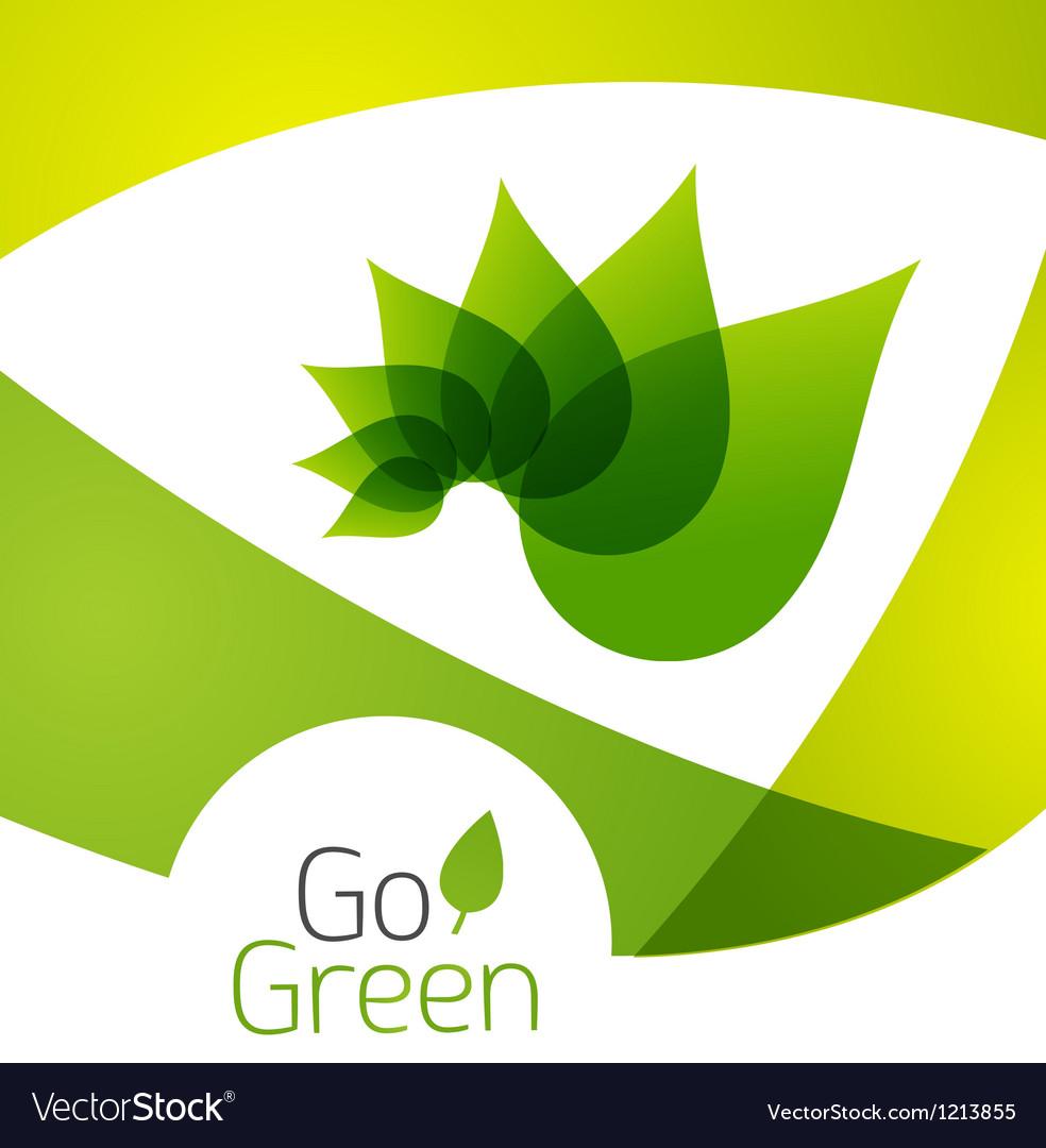 Green leaf icon concept vector | Price: 1 Credit (USD $1)