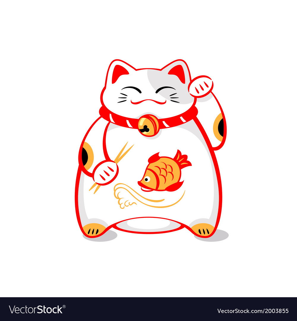 Japanese lucky cat vector | Price: 1 Credit (USD $1)