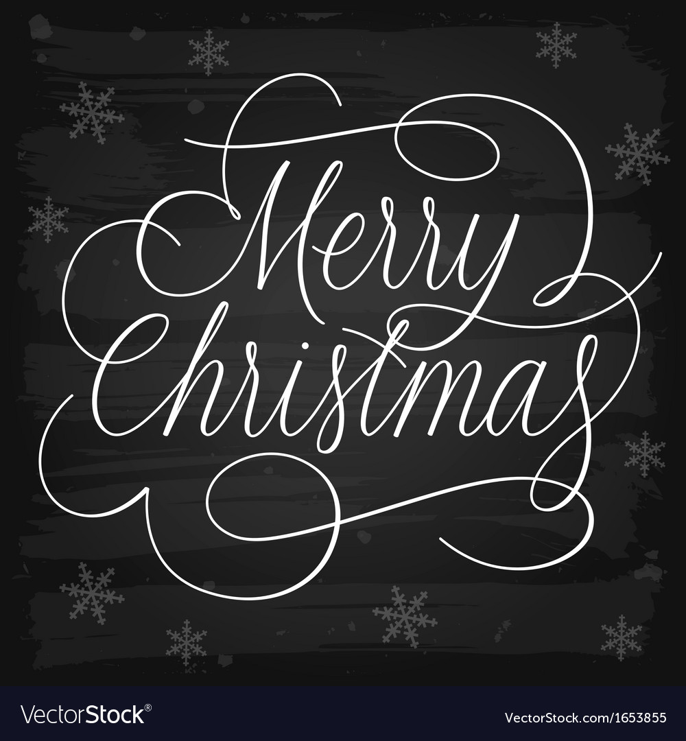Merry christmas greetings slogan on chalkboard vector | Price: 1 Credit (USD $1)