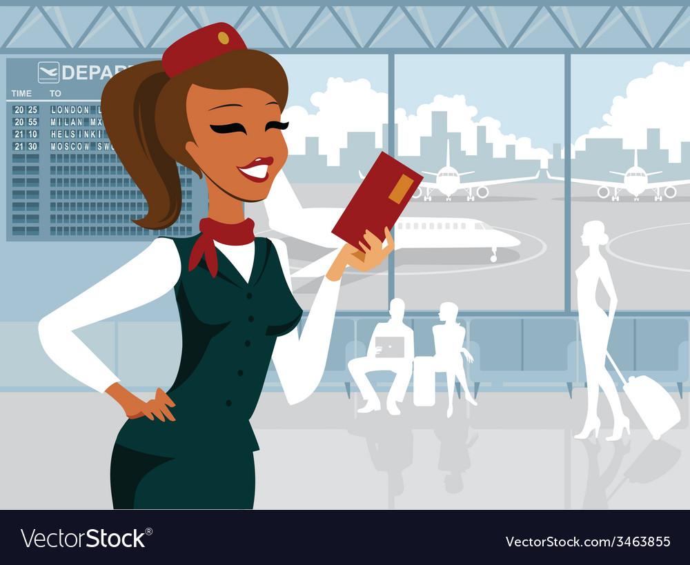 Stewardess vector | Price: 3 Credit (USD $3)