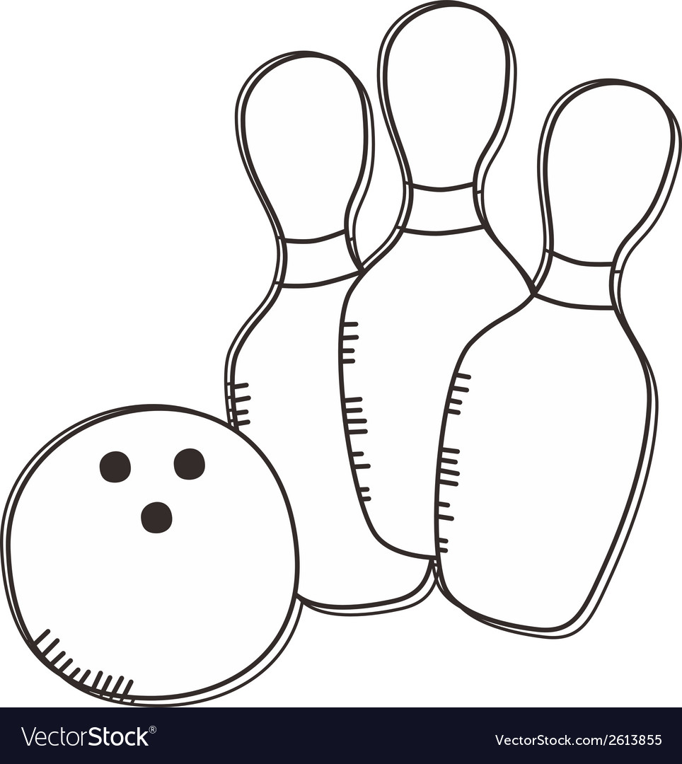 Ten pin bowling icon vector | Price: 1 Credit (USD $1)