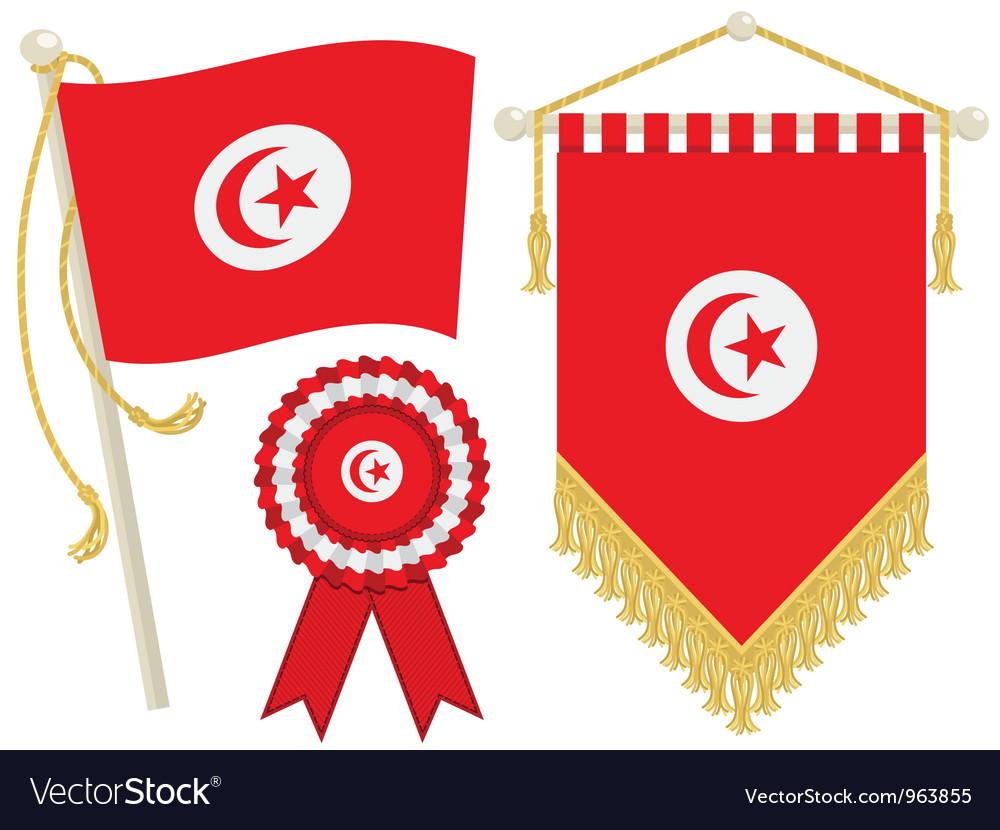 Tunisia flags vector | Price: 1 Credit (USD $1)