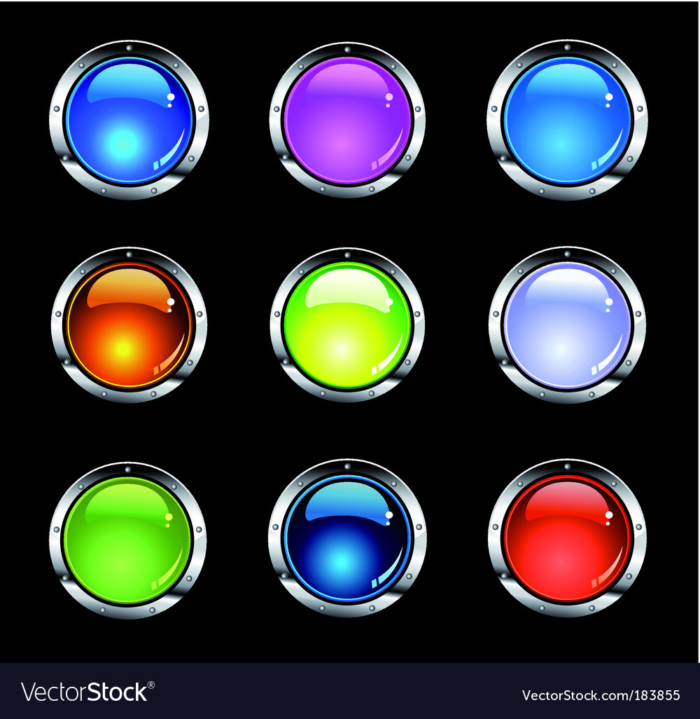 Website shiny buttons vector | Price: 3 Credit (USD $3)