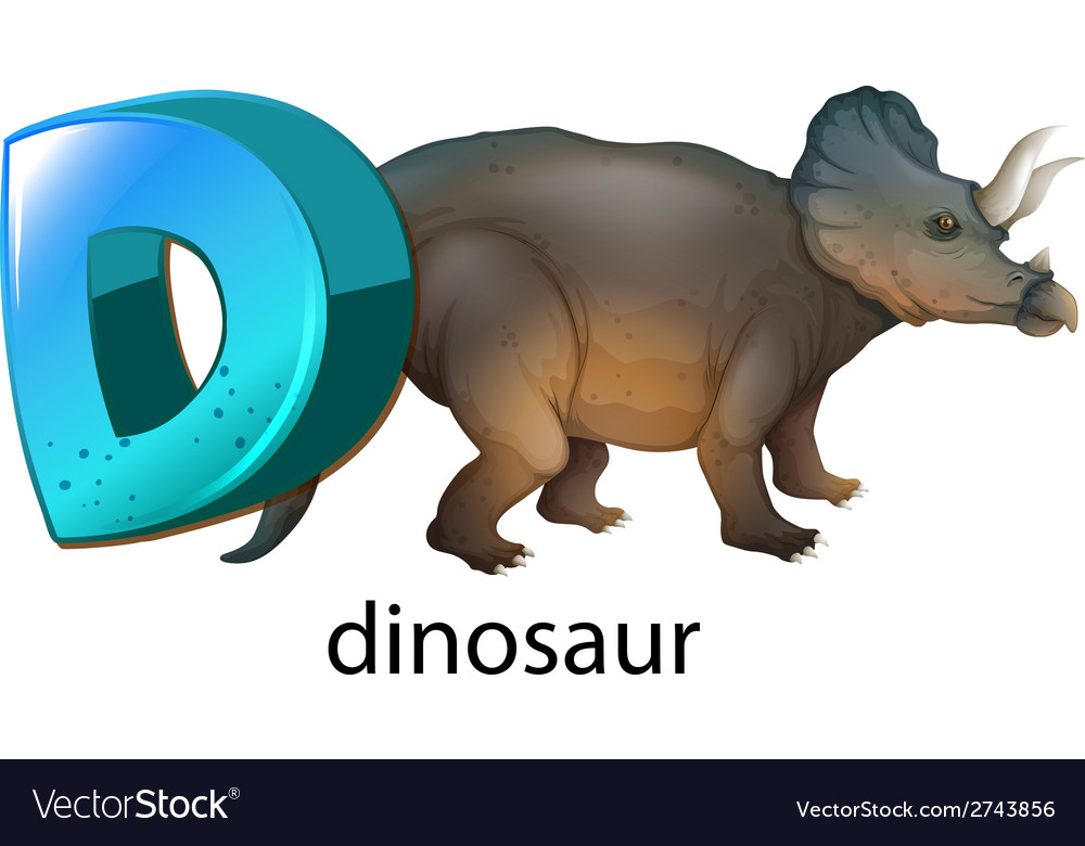 A letter d for dinosaur vector | Price: 1 Credit (USD $1)