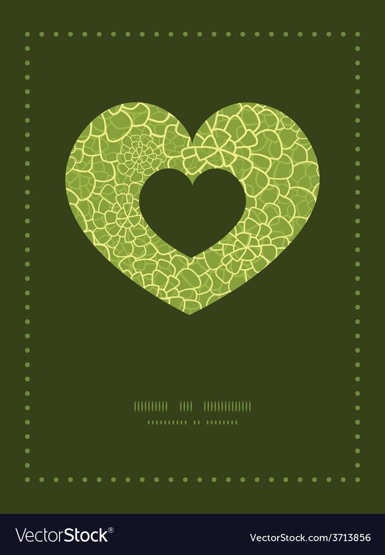 Abstract green natural texture heart symbol vector | Price: 1 Credit (USD $1)