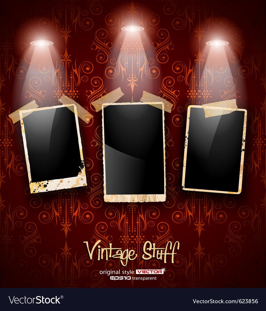 Antique distressed photoframes vector   Price: 3 Credit (USD $3)