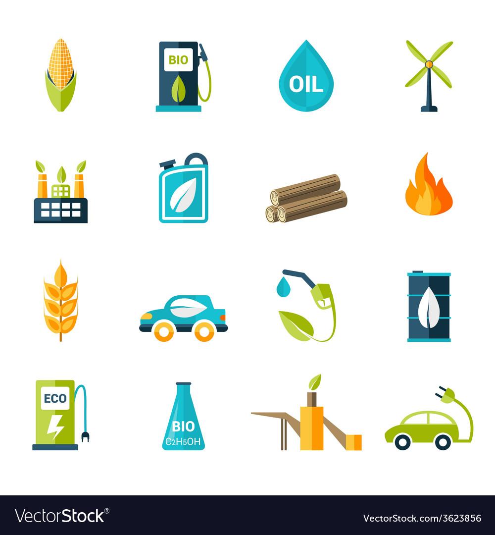 Bio fuel icons set vector | Price: 1 Credit (USD $1)