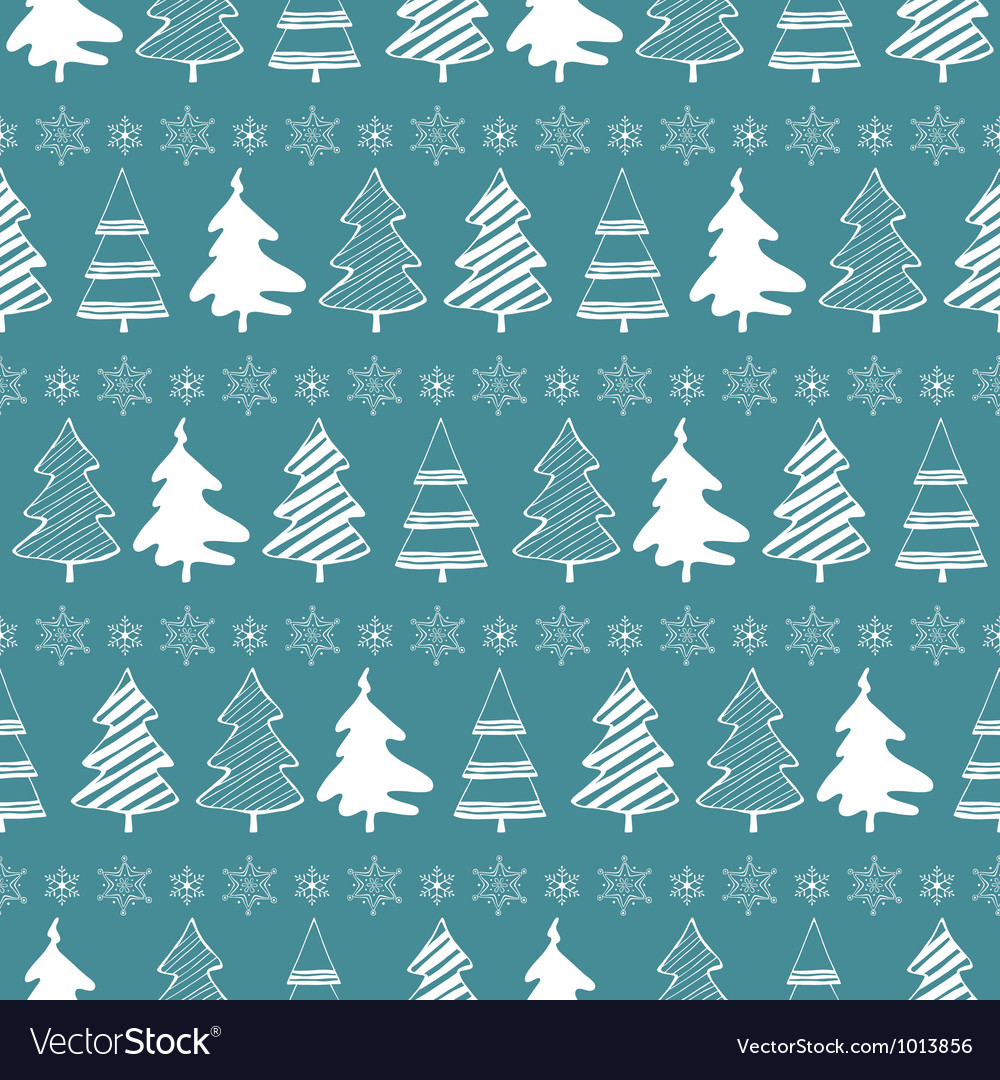 Christmas trees seamless pattern vector   Price: 1 Credit (USD $1)