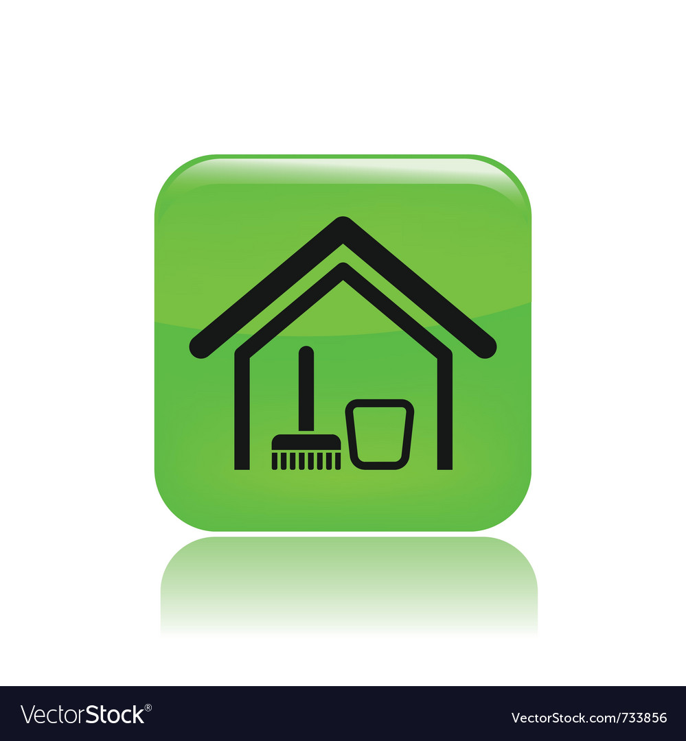 Clean house icon vector | Price: 1 Credit (USD $1)