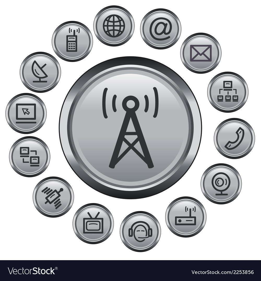 Communication buttons vector   Price: 1 Credit (USD $1)