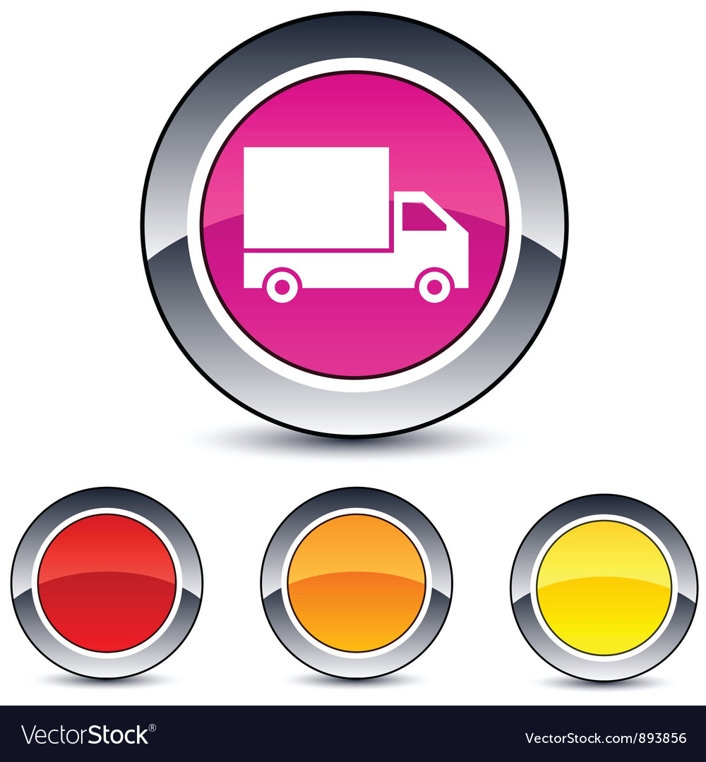 Delivery round button vector | Price: 1 Credit (USD $1)