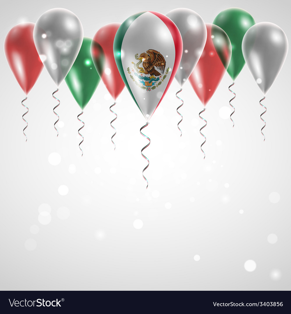 Flag of mexico on balloon vector   Price: 3 Credit (USD $3)