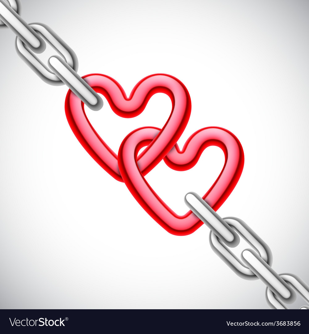 Heart shaped chain vector   Price: 1 Credit (USD $1)