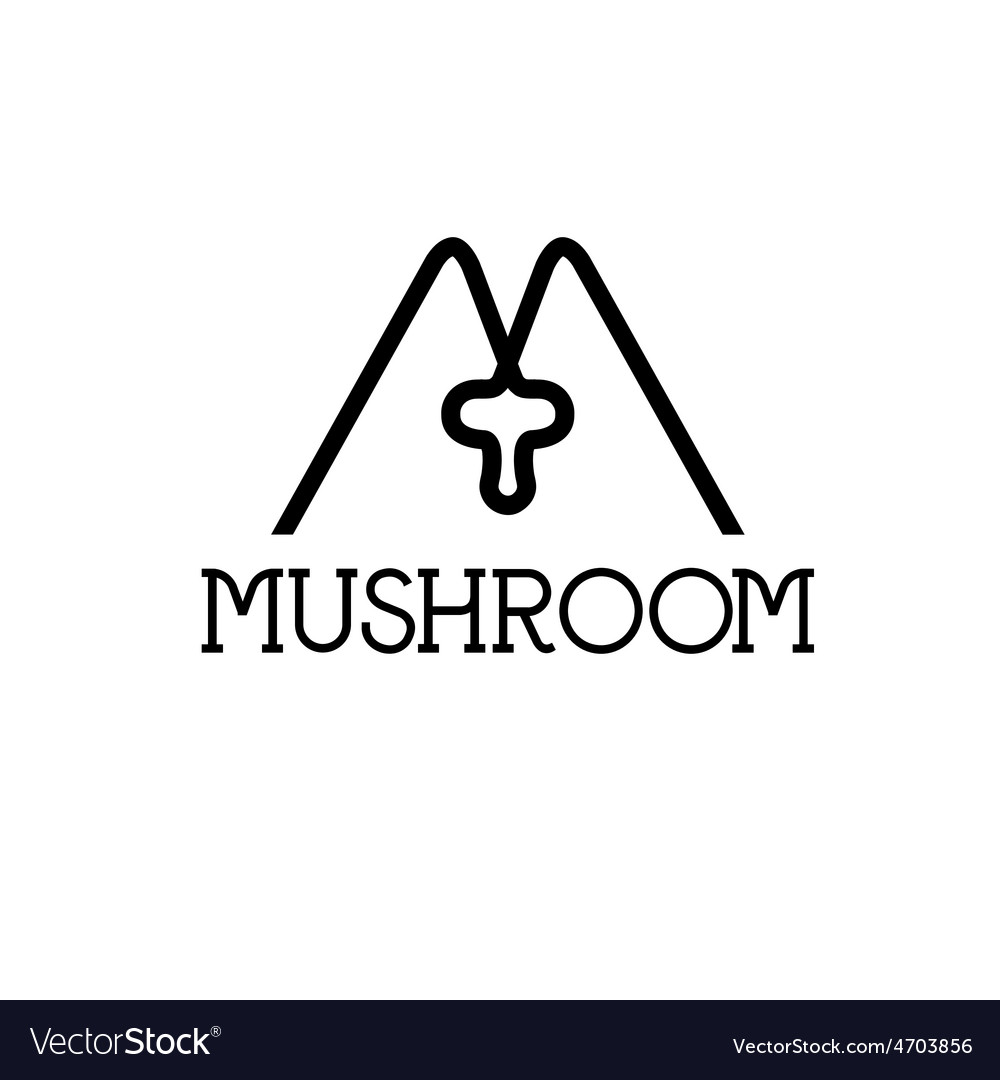 Mushroom monogram vector | Price: 1 Credit (USD $1)