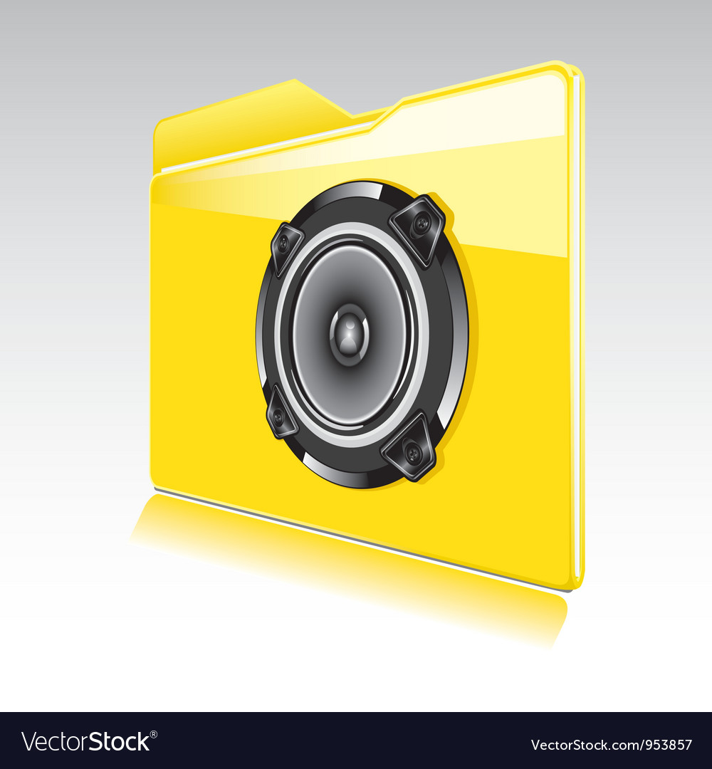 Folder with abstract audio speaker vector | Price: 1 Credit (USD $1)