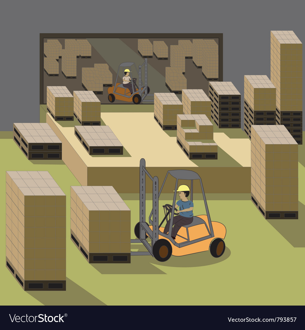 Forklift operator vector | Price: 3 Credit (USD $3)