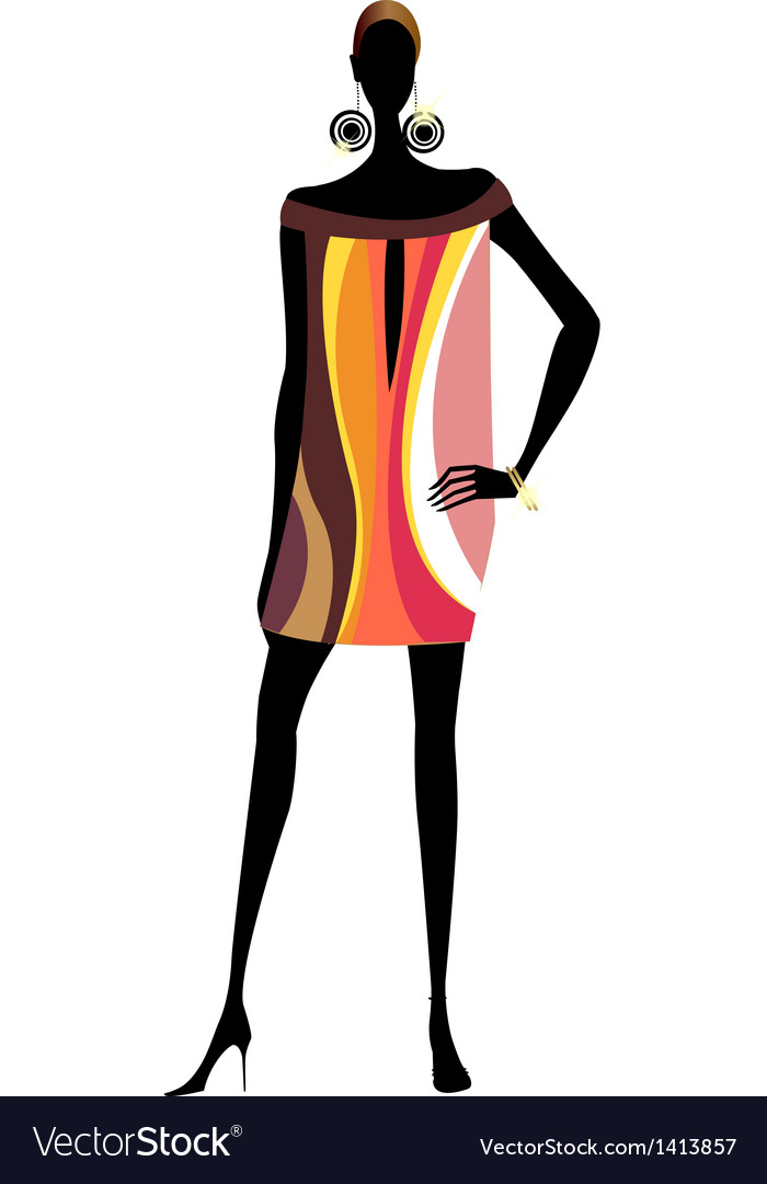 Funky exotic woman vector | Price: 1 Credit (USD $1)