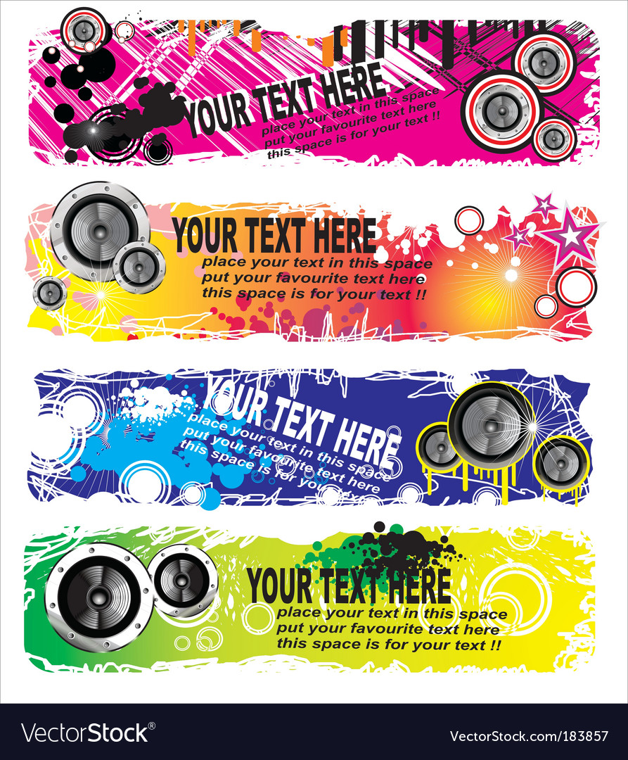 Music banners vector | Price: 3 Credit (USD $3)
