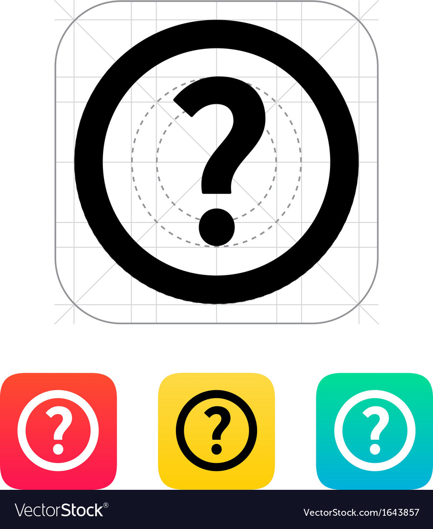 Question icon vector | Price: 1 Credit (USD $1)