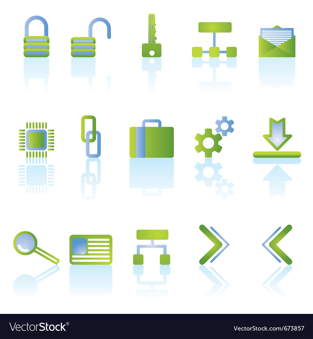 Reflect security icons vector | Price: 1 Credit (USD $1)