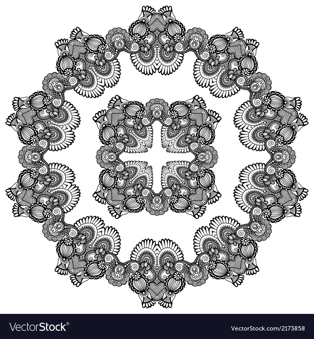 Doily pattern vector | Price: 1 Credit (USD $1)