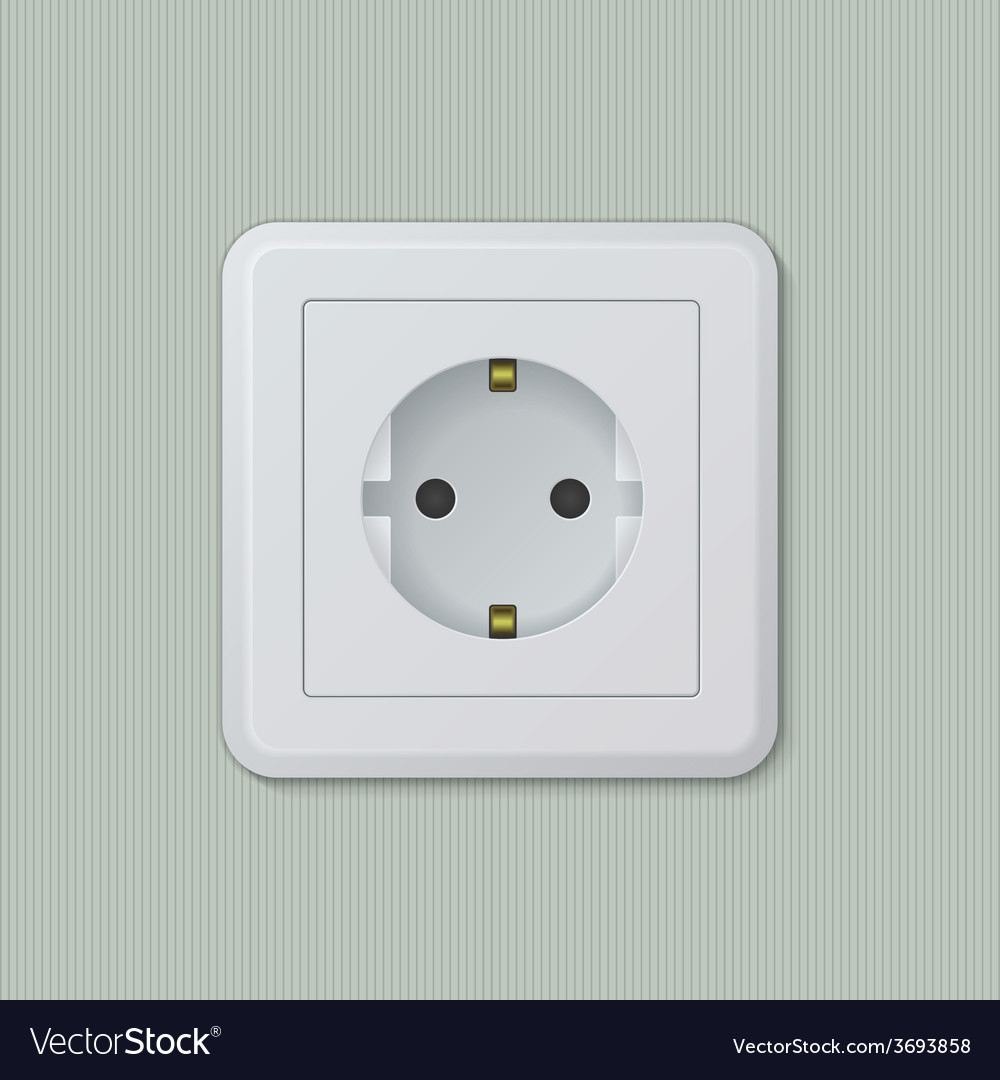 Euro electric socket 01 vector | Price: 1 Credit (USD $1)