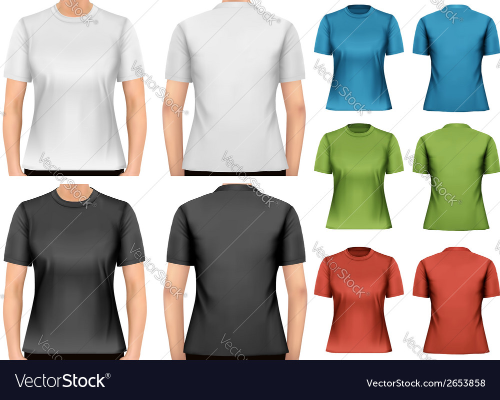 Female t-shirts design template vector | Price: 1 Credit (USD $1)