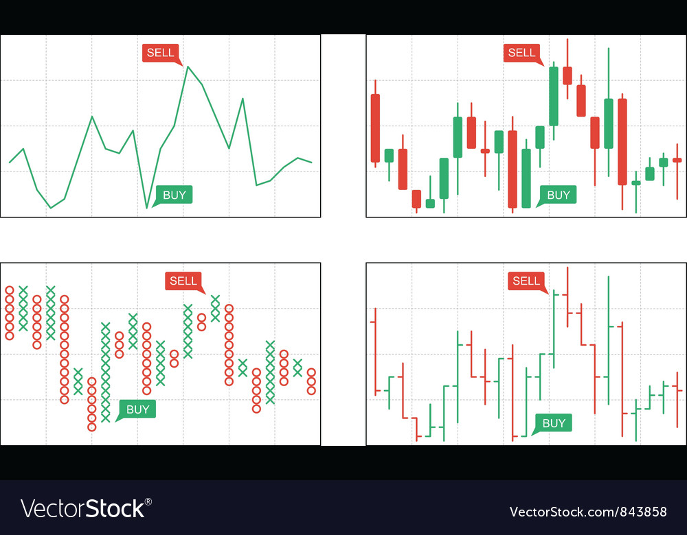 Four types of business charts vector | Price: 1 Credit (USD $1)