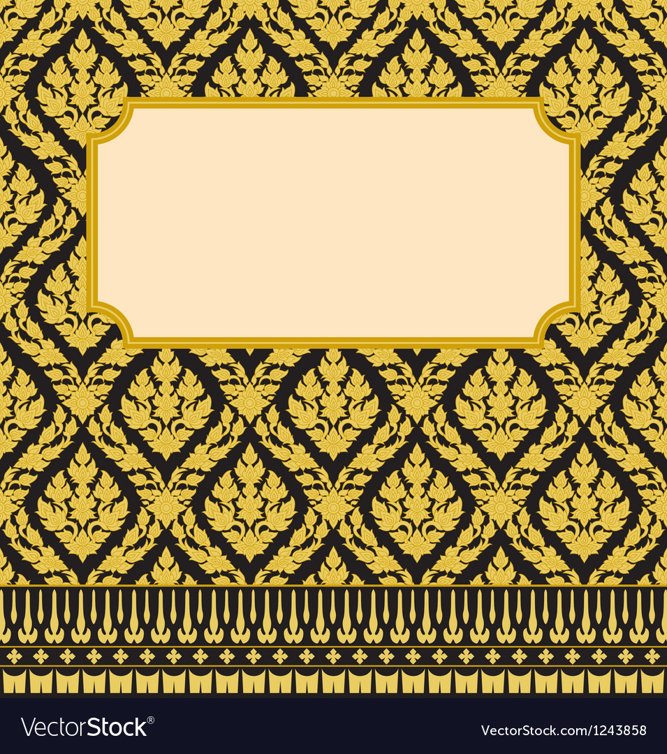 Frame with thai art vector | Price: 1 Credit (USD $1)