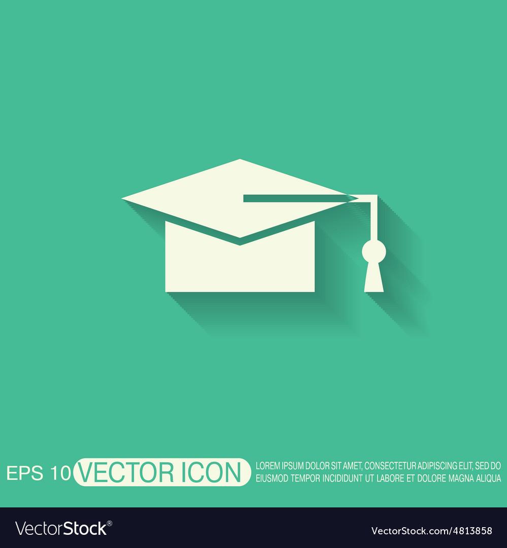 Graduate hat education sign vector   Price: 1 Credit (USD $1)